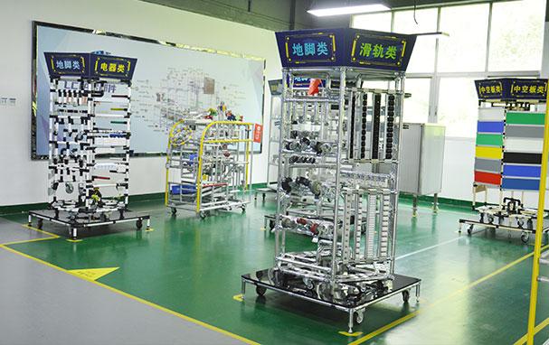 LCIA零部件展示区